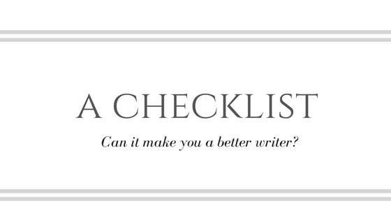 Can a Checklist Make You a Better Writer?