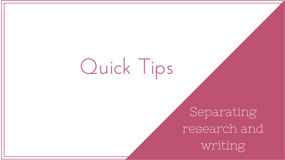 Quick Tip: Avoiding the Research Rabbit Hole