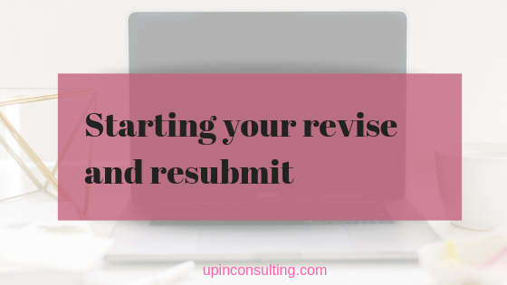 How To Start a Revise and Resubmit