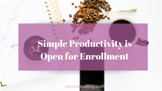 Simple Productivity Is Open for Enrollment